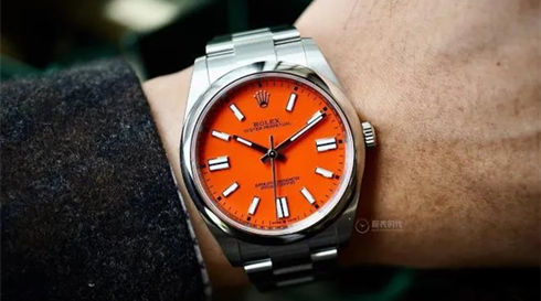 Orange oyster perpetual rolex 41MM